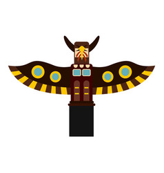 Indian totem pole in stanley park canada icon vector