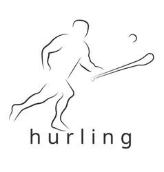Logo hurling game irish hurling vector