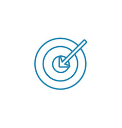 main objective linear icon concept main objective vector image