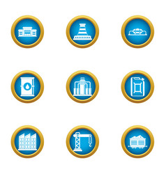Mandate icons set flat style vector