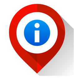 map pin red vector image