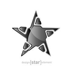 Metal Abstract star on white background vector image