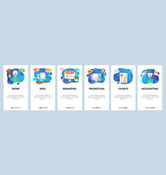 mobile app onboarding screens business accounting vector image