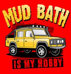 Mud bath vector