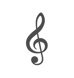 Music treble clef icon vector