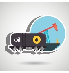 Oil truck isolated icon design vector image
