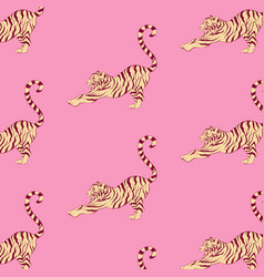 Pattern with hand drawn of vector