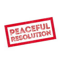 Peaceful Resolution rubber stamp vector