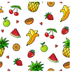 Pop art style seamless background vector