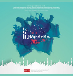 Ramadan sale offer banner design promotion poster vector