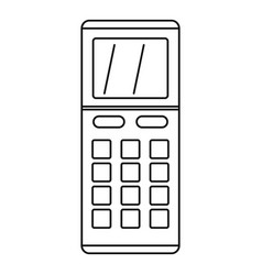 Remote control air conditioner icon outline style vector