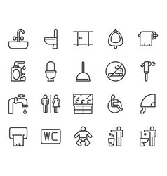 restroom icon set vector image