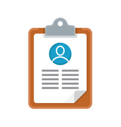 Resume cv icon vector