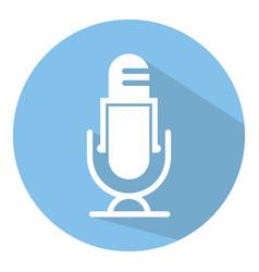 Retro microphone speaker audio mic flat icons vector