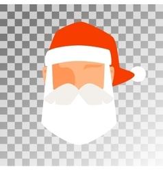 Santa Claus flat icon avatar vector