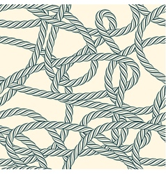 Seamless tangled rope loops pattern vector