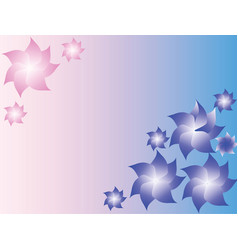 soft blue and pink background vector image