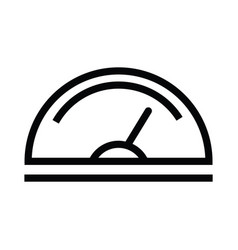 Speedometer line icon data and analytics with vector