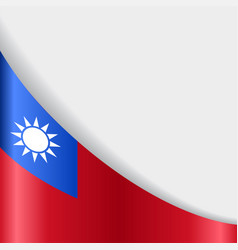 taiwan flag background vector image