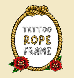 tattoo rope frame vector image