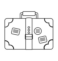 travel vacation suitcase cartoon vector image