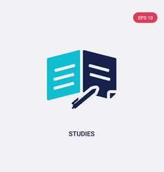 two color studies icon from education concept vector image