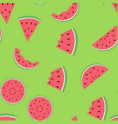 watermelon seamless pattern background eps10 vector image