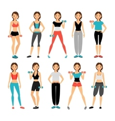 Women in sportswear vector image