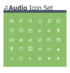 Audio icon set vector image