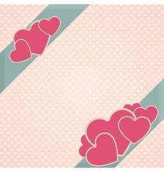Card Heart Three vector image
