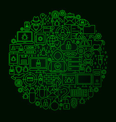 hacker line circle concept vector image vector image