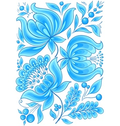 hand-drawn floral background with flowers cool vector image