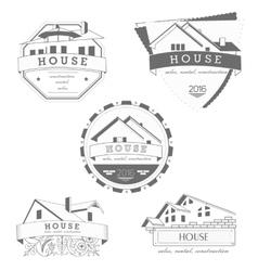 House logo gray template Realty theme icon vector image vector image