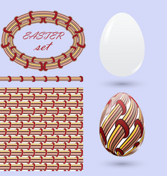 set with easter eggs and design elements in the vector image