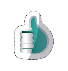 blue hand making the good sign icon vector image