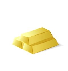 Gold bars investment tool vector image vector image