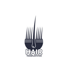 hair follicle in hair bulb icon vector image