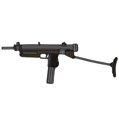Old small automatic gun vector image