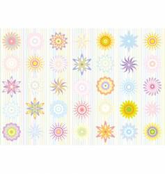 pastel color floral pattern vector image vector image