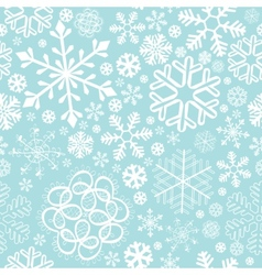 snowflake christmas and new year seamless pattern vector image vector image