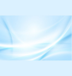 abstract soft blue wavy with blurred light curved vector image