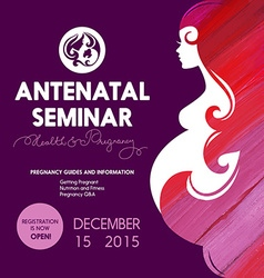 Beautiful pregnant woman silhouette Antenatal vector image