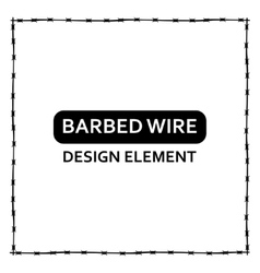 black barbed wire frame vector image