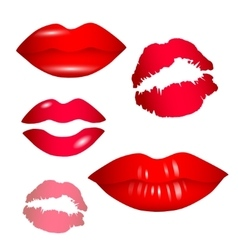 Female lips collection - vector image