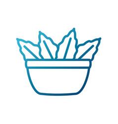 leaf salad bowl vector image vector image