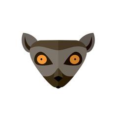 lemur head icon in flat design vector image