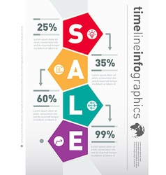 Sale infographic timeline Web Template for diagram vector image