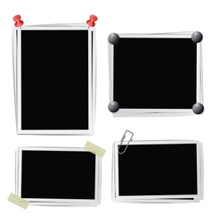 Set of photo frames vector image