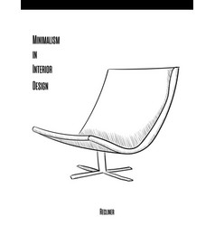 soft chair with backrest in a contour on a white vector image