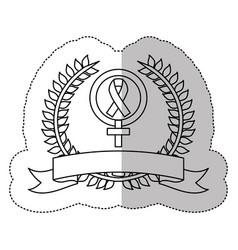 symbol breast cancer ribbon image vector image vector image